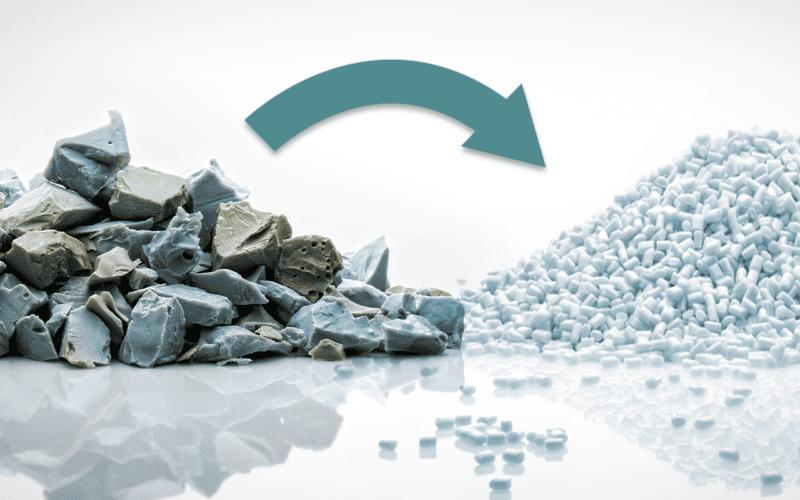 Abfall zu Granulat